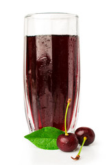 cherry juice with fresh cherries