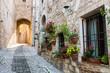 Leinwandbild Motiv Vicolo romantico italiano