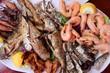 Obrazy na płótnie, fototapety, zdjęcia, fotoobrazy drukowane : Greek seafood plate