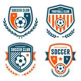 Fototapety Soccer crests