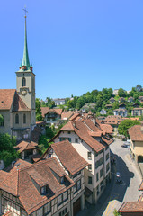 Bern cityscape with the Nydeggkirche Church