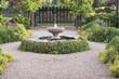 Leinwandbild Motiv Beautiful Fountain Path