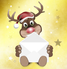 Paws Reindeer with letter