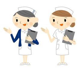 看護士と婦長
