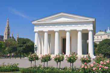 Temple of Theseus in the park Volksgarten, Vienna Austria