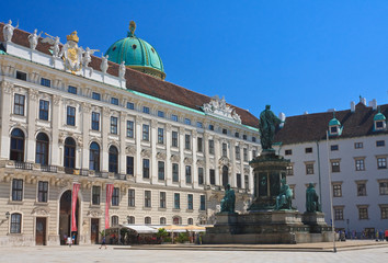Hofburg. Monument to Franz I,. Vienna. Austria