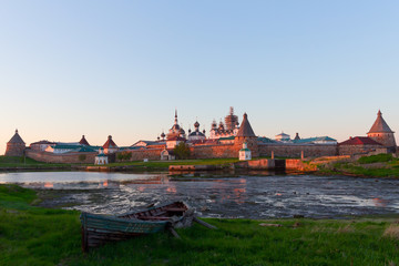 Sunset in Solovetsky islands