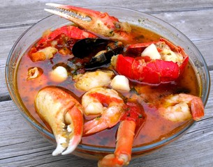 Bouillabaisse with Shellfish
