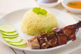 Chinese style roasted duck with rice