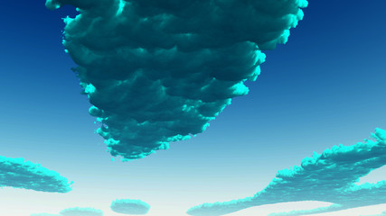 Blue green Clouds