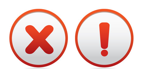 Exclamation and question  icons