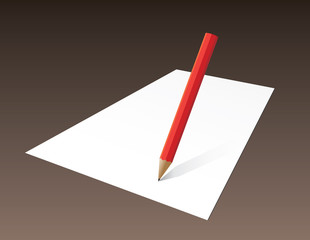 Paper blank with pencil hand