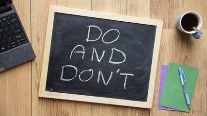 Do and don't written