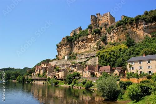 Tuinposter Kasteel Beynac-et-Cazenac (Dordogne)