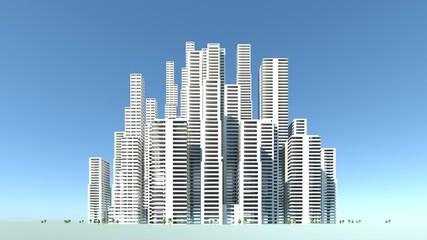 ビル街の発展