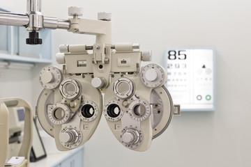 eyes examination equipment focus on phoroptor