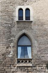 Medieval window in Palma de Mallorca, Spain