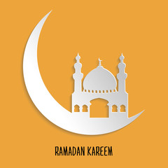 Ramadan Kareem Paper Cut Out Card