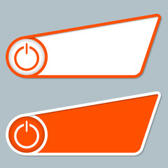 two orange boxes for any text with power button
