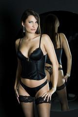 Seductive sexy girl in luxury underwear