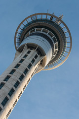 detail of Sky Tower in Auckland, New Zealand