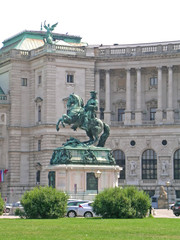 The statue of Prince Eugene of Savoy