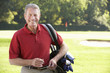 Senior man on golf course