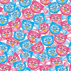 Owls Fly pattern. Seamless pattern