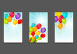 Set of 240 x 400 banners with balloons