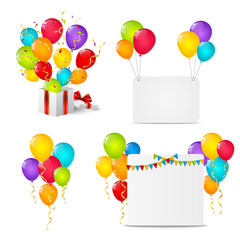 Set of Birthday objects for Your design