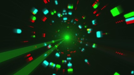 Futuristic Light Tunnel Flight 1