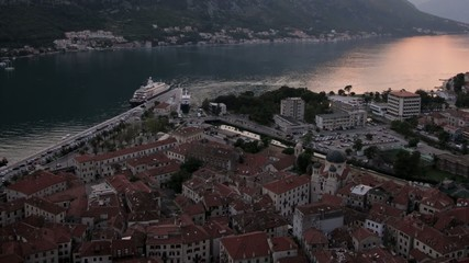 Kotor Montenegro evening. Time-lapse