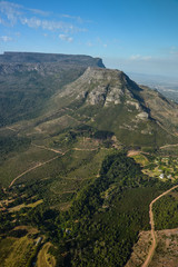 Aerial view of Cape Town, Table mountain and Lion's Head