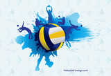 Fototapety Volleyball abstract