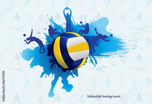 Fototapeta Volleyball abstract
