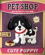 Vintage Pet shop poster set design