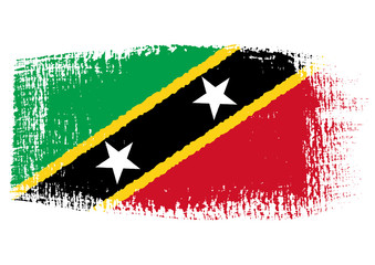 brushstroke flag Saint Kitts and Nevis