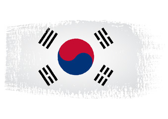 brushstroke flag South Korea