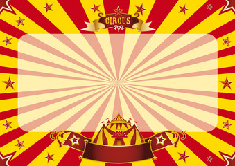 Circus horizontal red and yellow