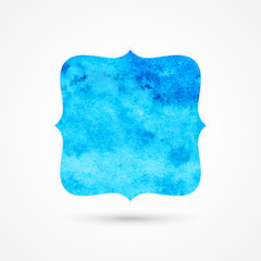 Blue background with place for your text, watercolor design