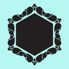 Drop elements, frame border, swirl design