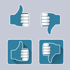 Two hands that are positive or negative