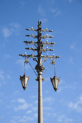 Ancient electric street light, built in 19th century