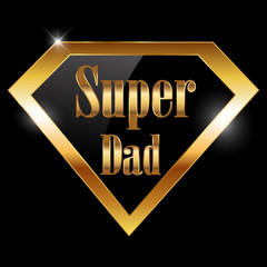 happy fathers day, super dad greeting card
