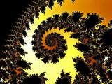 Patterned fractal spiral
