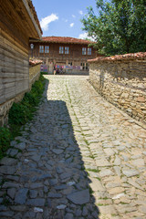 Street in weaving quarter in the Bulgarian village