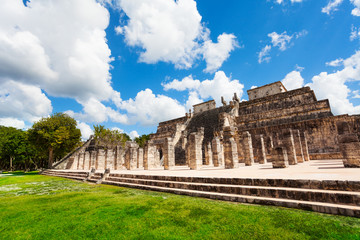Temple with columns, Chichen Itza, Mexico