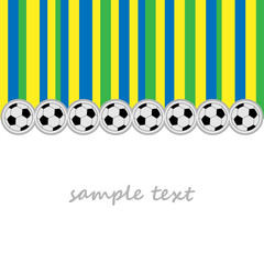 background football balls and striped using brazil flag colors