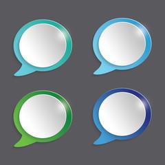 Modern Speech Bubble Icon Set