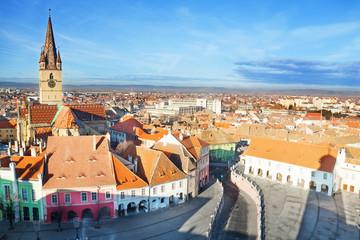 Piata Mare (Large square) in Sibiu, Romania
